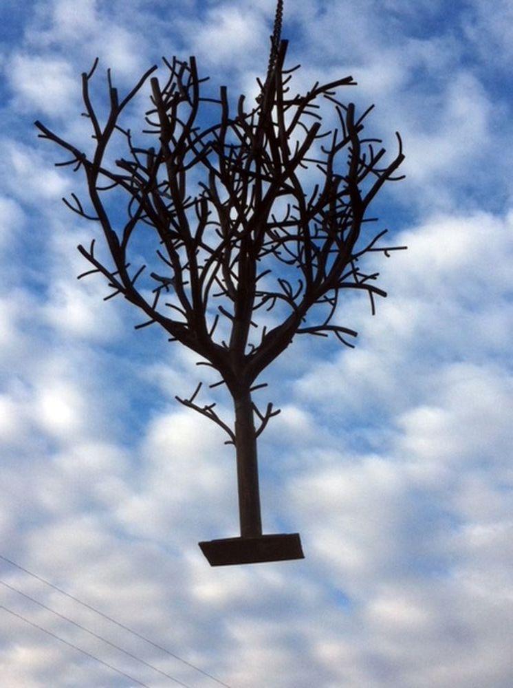 Installation arbre support vegetation création Labbé